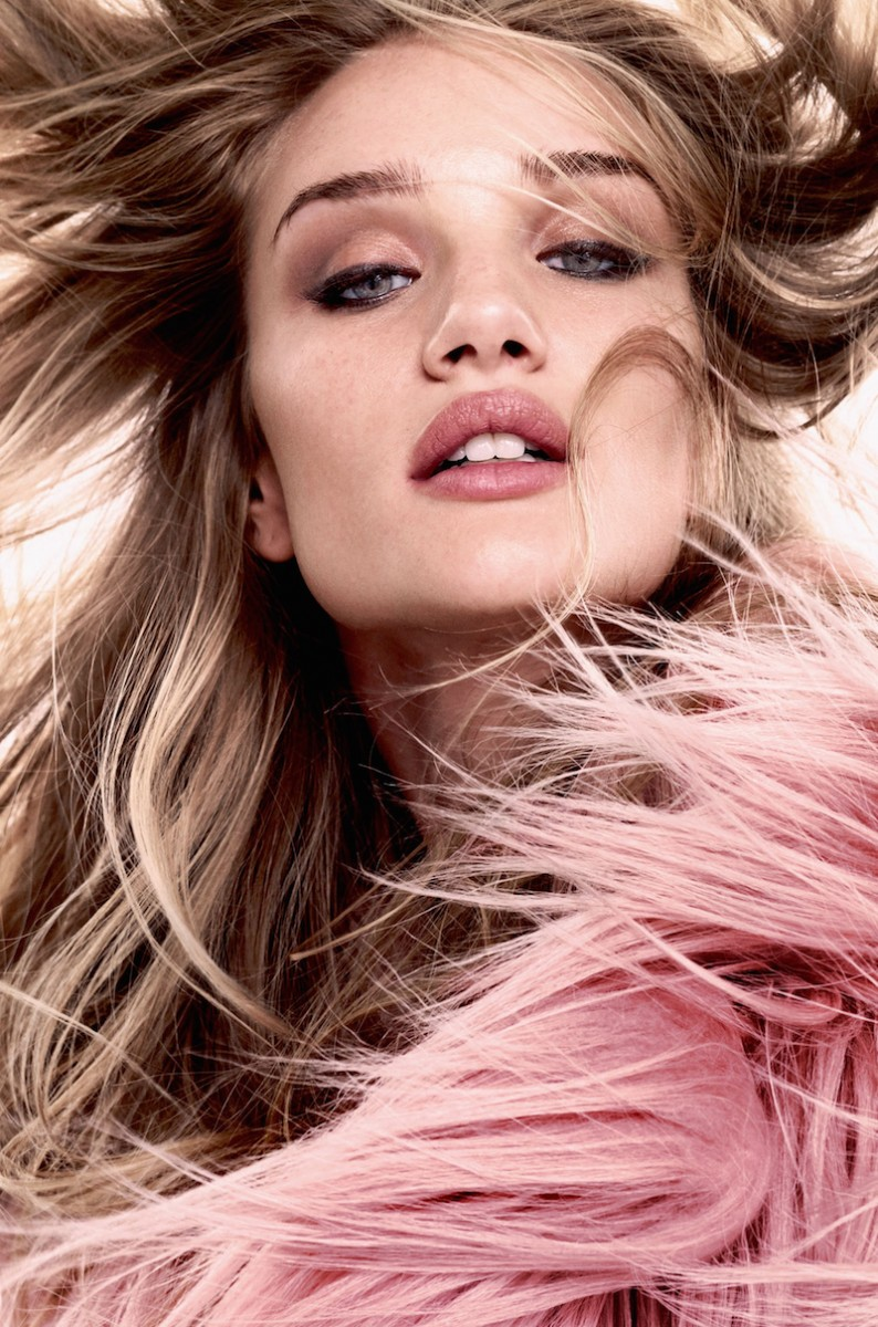 Rosie Huntington-Whiteley in Glam Style for Bazaar UK Shoot by David Slijper