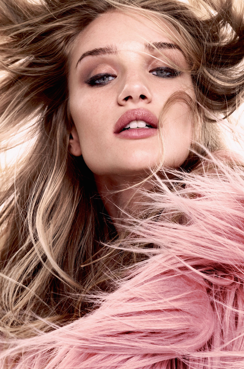 Rosie Huntington-Whiteley in Glam Style for Bazaar UK Shoot by David Slijper