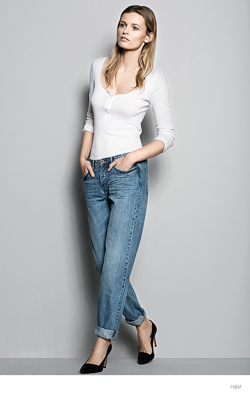 hm denim fit guide womens 2014 02 H&M Denim Fit Guide with Edita Vilkeviciute