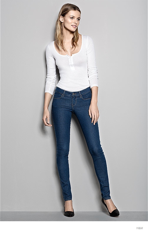 hm denim fit guide womens 2014 03 H&M Denim Fit Guide with Edita Vilkeviciute