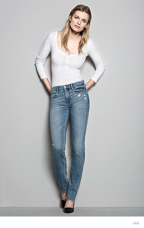 hm denim fit guide womens 2014 04 H&M Denim Fit Guide with Edita Vilkeviciute