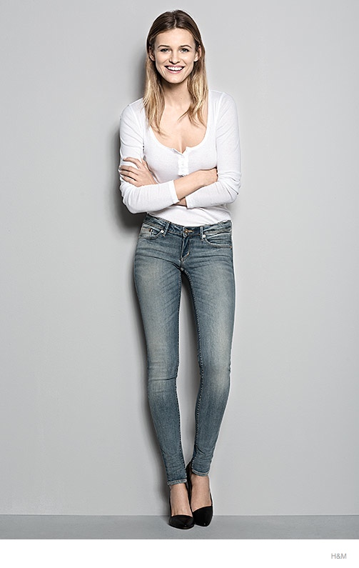 hm denim fit guide womens 2014 05 H&M Denim Fit Guide with Edita Vilkeviciute