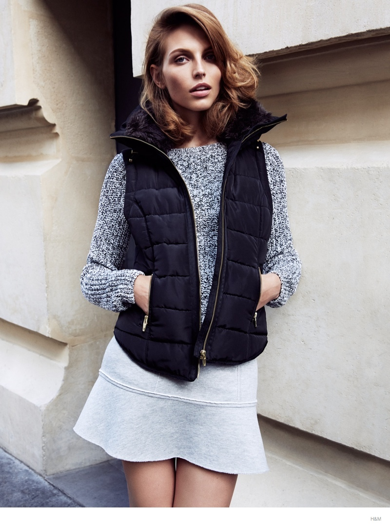 hm fall outerwear karlina caune10 Karlina Caune Models H&Ms Fall Outerwear in Trend Update