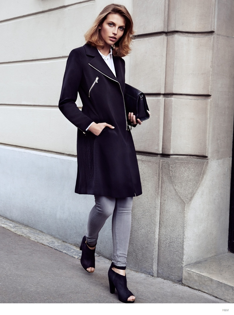 hm fall outerwear karlina caune8 Karlina Caune Models H&Ms Fall Outerwear in Trend Update