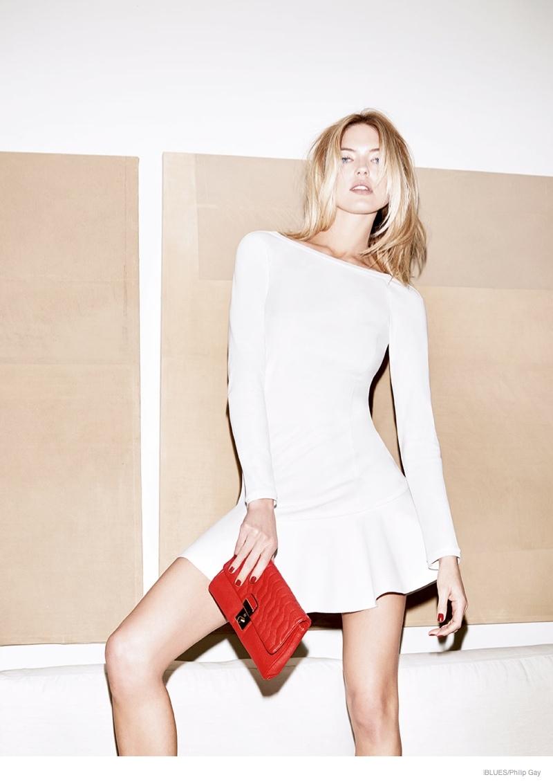 Martha Hunt Dons Flirty Dresses for iBlues Fall 2014 Ads