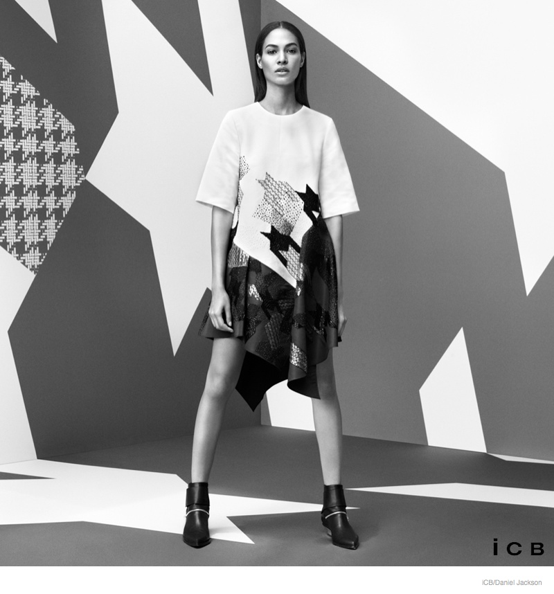 Joan Smalls Wears Graphic Prints for iCB's Fall 2014 Campaign