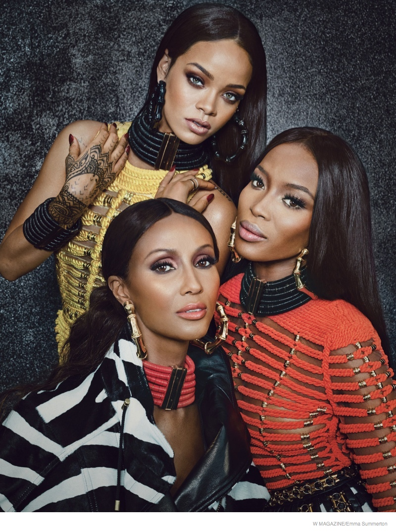 Rihanna! Iman! Naomi! The Super Stars in Balmain for W Feature