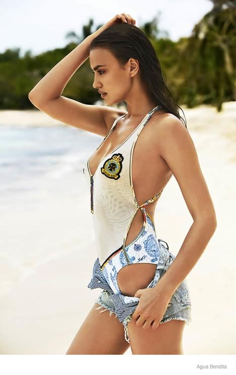 irina shayk agua bendita swimwear 2015 ad campaign06 Irina Shayk Brings the Heat for Agua Bendita's 2015 Swimsuit Ads