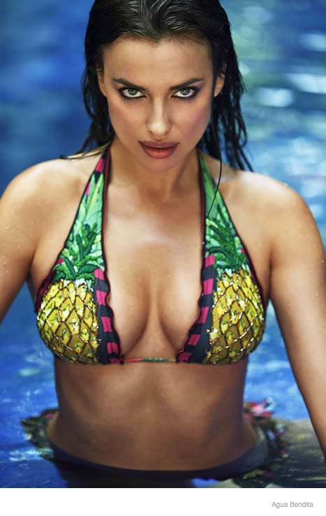 Irina Shayk Brings the Heat for Agua Bendita's 2015 Swimsuit Ads