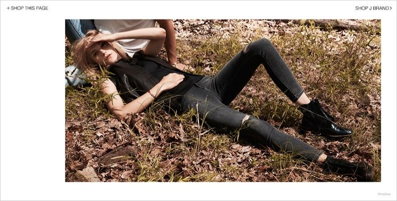 j brand denim styles02 Dorothea Barth Jorgensen Models J Brand Denim Looks for Shopbop Shoot
