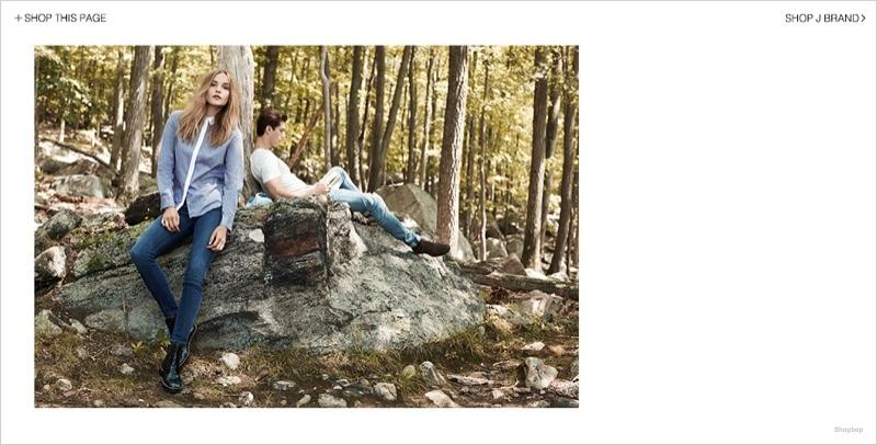 j brand denim styles03 Dorothea Barth Jorgensen Models J Brand Denim Looks for Shopbop Shoot