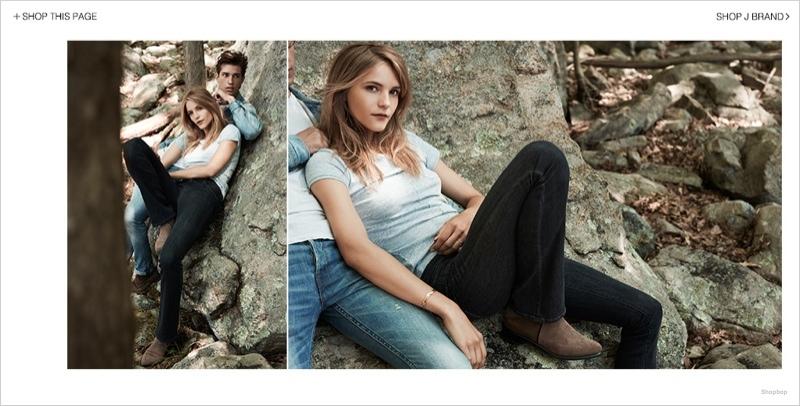 j brand denim styles04 Dorothea Barth Jorgensen Models J Brand Denim Looks for Shopbop Shoot