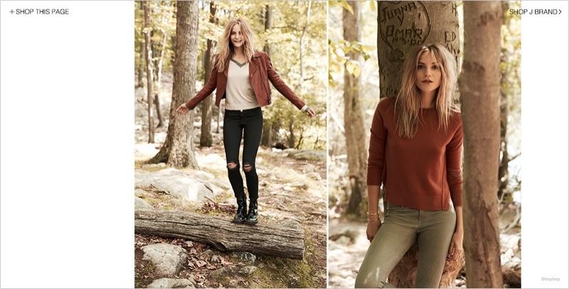 j brand denim styles05 Dorothea Barth Jorgensen Models J Brand Denim Looks for Shopbop Shoot
