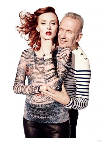 Karen Elson Stars in Jean Paul Gaultier x Lindex Campaign Photos