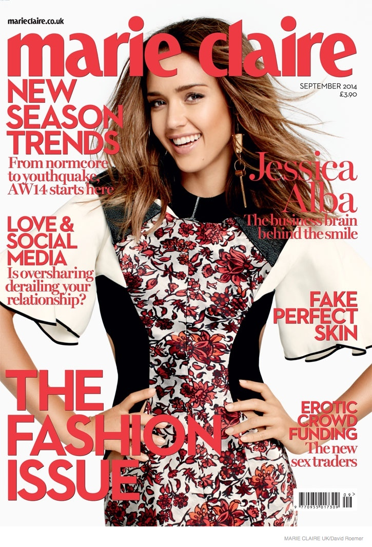 jessica alba dresses david roemer shoot05 Jessica Alba in Fall Dress Styles for Marie Claire UK by David Roemer