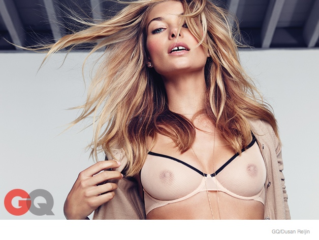 jessica hart sexy gq shoot01 Jessica Hart is Smokin Hot in Her Underwear for GQ Shoot