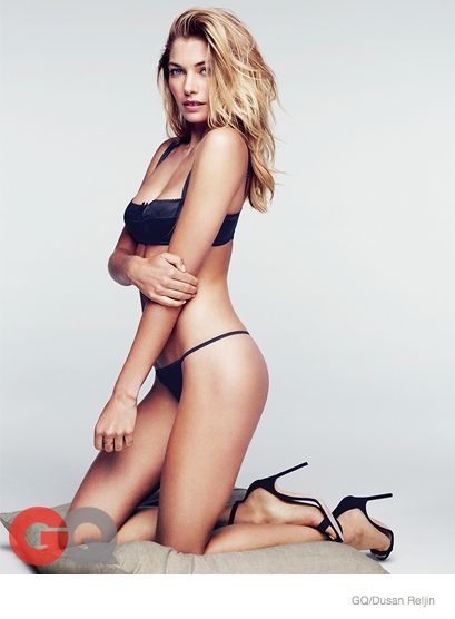 jessica hart sexy gq shoot05 Jessica Hart is Smokin Hot in Her Underwear for GQ Shoot