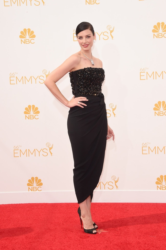 Mad Men's Jessica Pare in a Lanvin dress