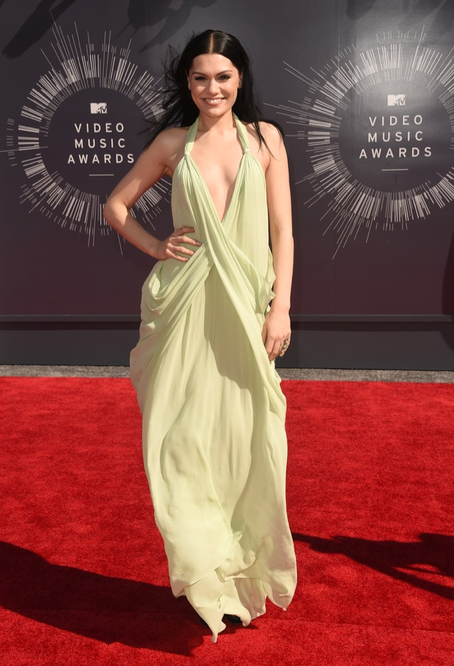 Jessie J wears vintage Halston dress