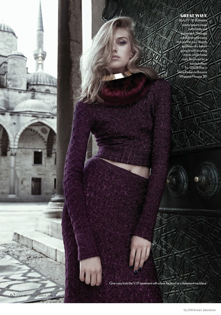 jewel toned fashion glow07 Dauphine McKee in Rich Jewel Tones for GLOW by Arkan Zakharov