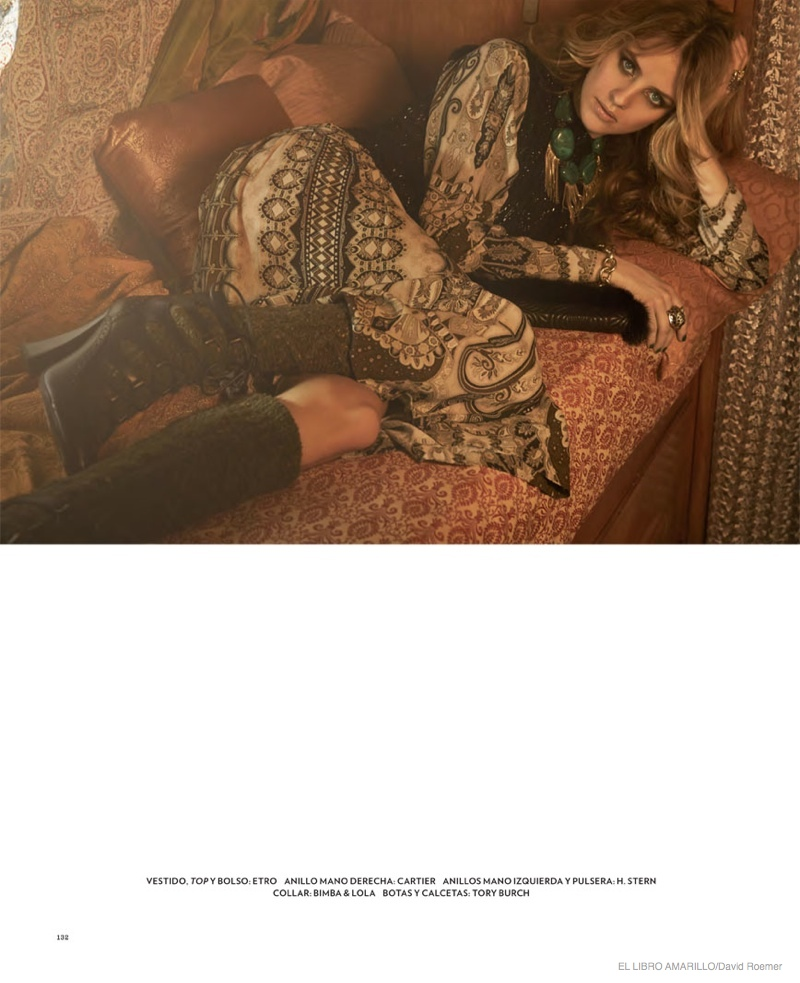 julia frauche gypsy bohemian fashion02 Julia Frauche Wears Gypsy Fashions for El Libro Amarillo by David Roemer