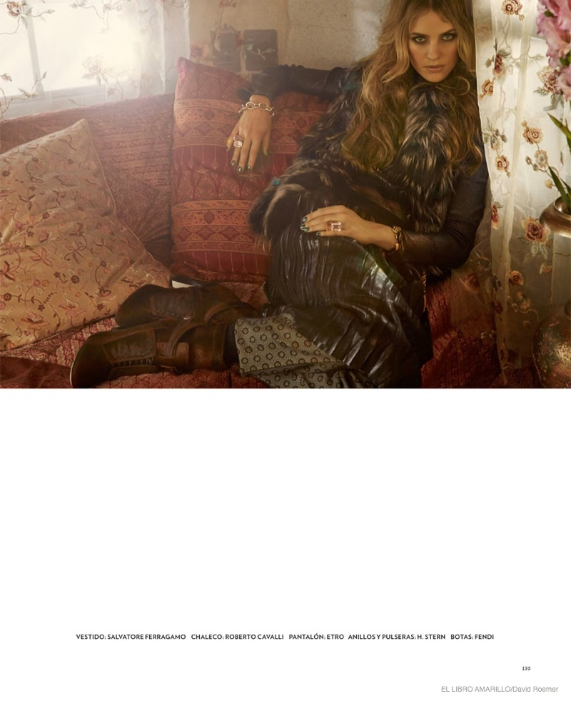 julia frauche gypsy bohemian fashion03 Julia Frauche Wears Gypsy Fashions for El Libro Amarillo by David Roemer