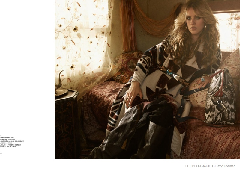 julia frauche gypsy bohemian fashion04 Julia Frauche Wears Gypsy Fashions for El Libro Amarillo by David Roemer