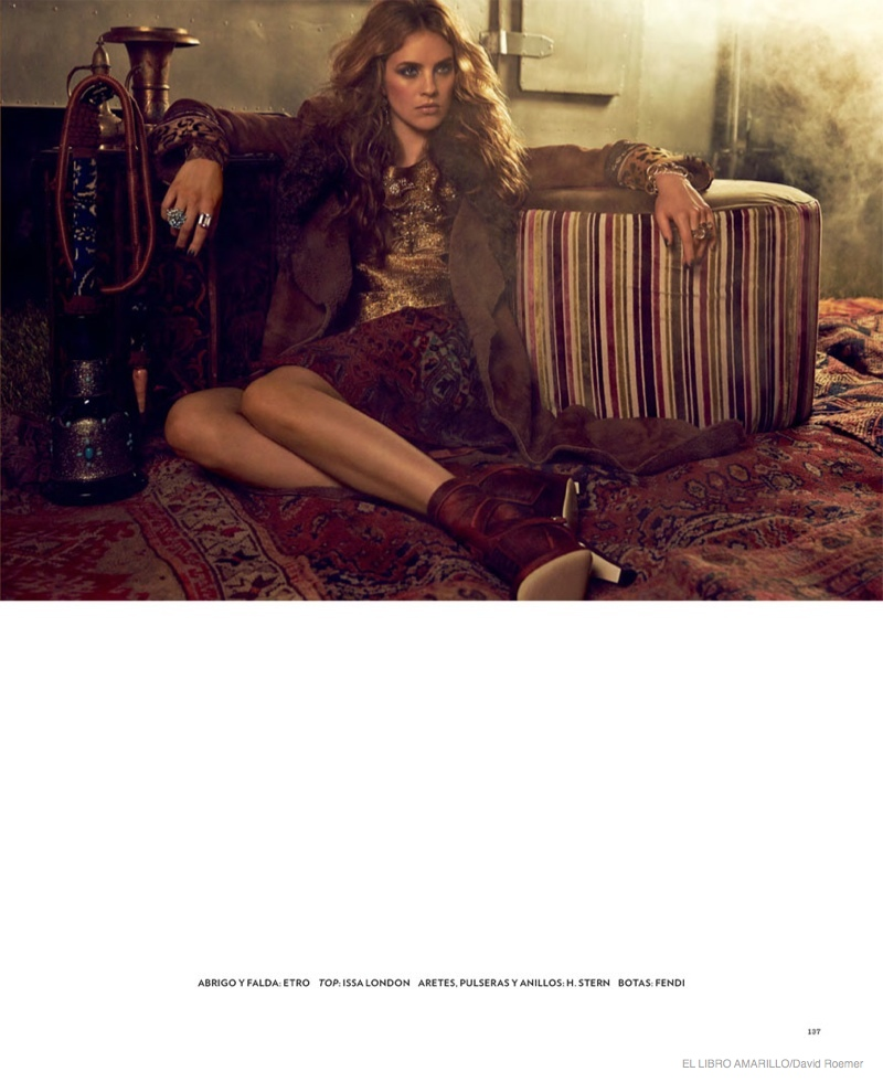 julia frauche gypsy bohemian fashion06 Julia Frauche Wears Gypsy Fashions for El Libro Amarillo by David Roemer