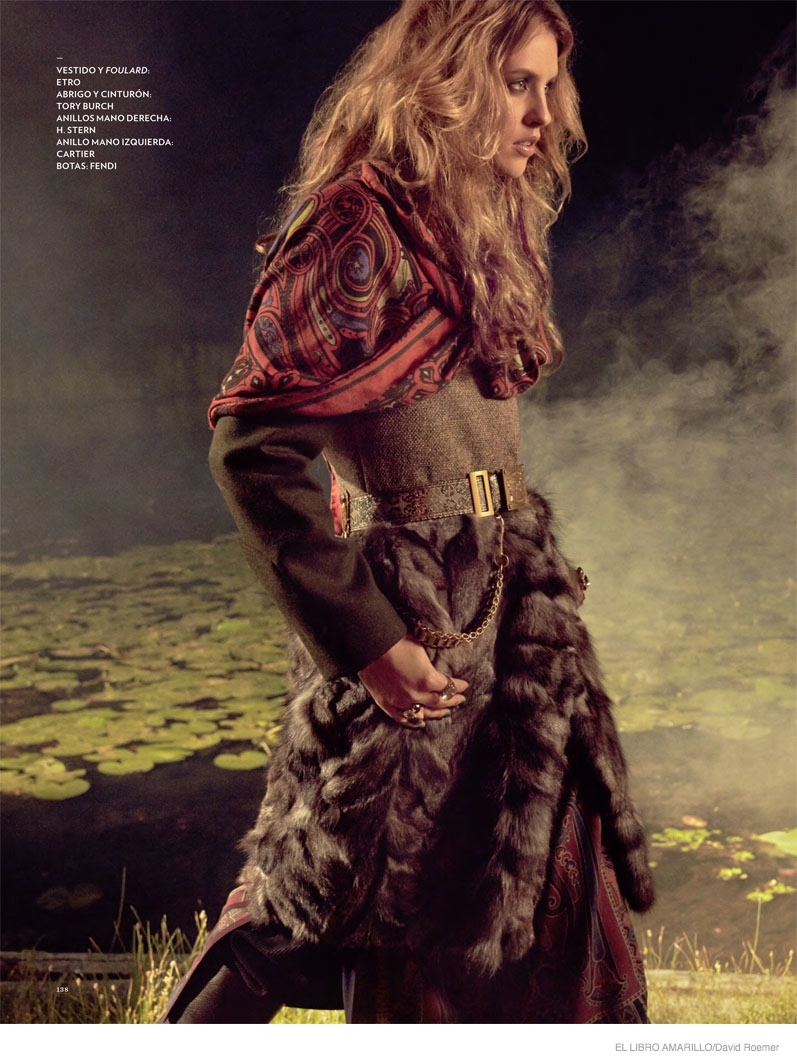 julia frauche gypsy bohemian fashion07 Julia Frauche Wears Gypsy Fashions for El Libro Amarillo by David Roemer