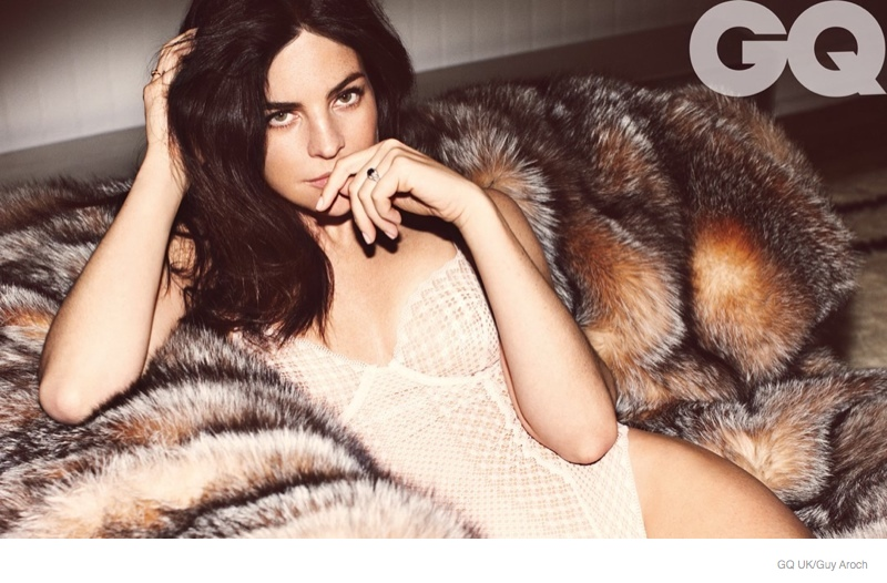 julia restoin roitfeld sexy gq uk01 Julia Restoin Roitfeld Gets Wrapped in Lace, Furs for GQ UK Shoot