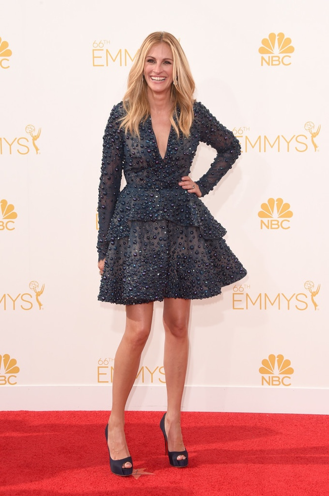 julia roberts elie saab dress emmys 2014 Emmys Red Carpet Style
