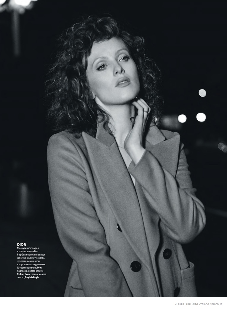 karen elson yelena yemchuk shoot08 Karen Elson Wears Fall Collections for Yelena Yemchuk Shoot in Vogue Ukraine
