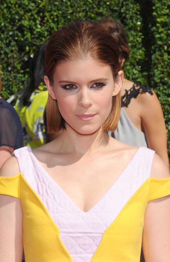kate mara yellow dior dress02 Kate Mara Wears Yellow Dior Dress at the 2014 Creative Arts Emmy Awards