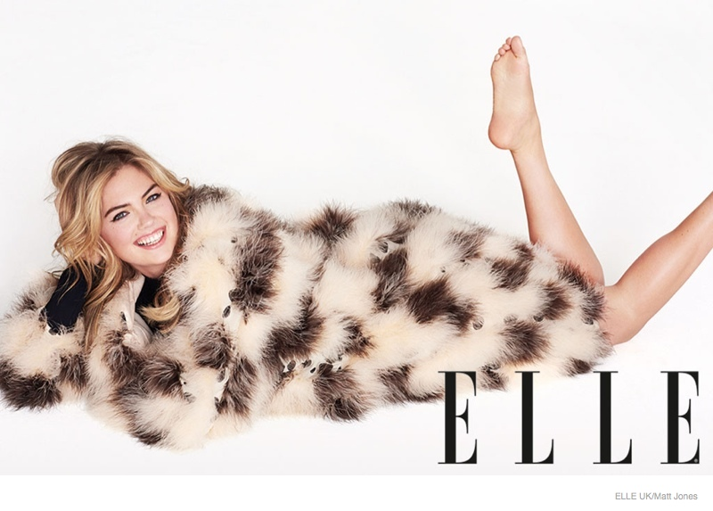 kate upton elle uk 2014 photos01 Kate Upton Talks About Pressure to Lose Weight + How Shes Just Like Everyone Else