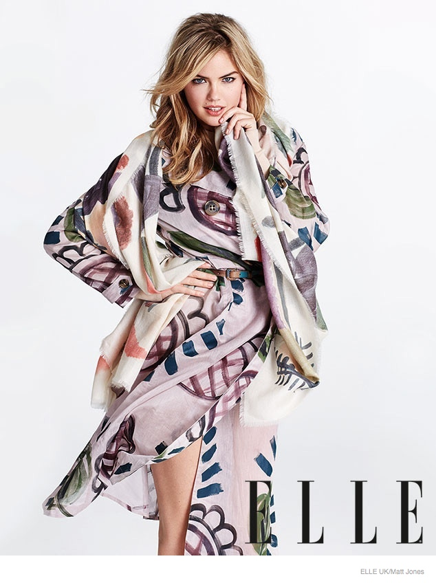 kate upton elle uk 2014 photos02 Kate Upton Talks About Pressure to Lose Weight + How Shes Just Like Everyone Else