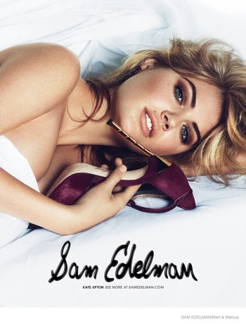 Kate Upton Gets Naked for Sam Edelman Fall 2014 Ads by Mert & Marcus