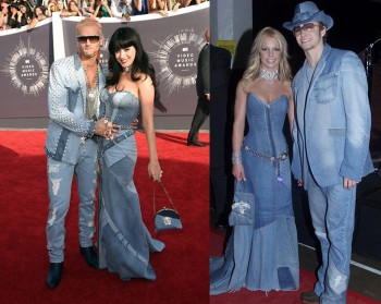 Katy Perry Channels Britney Spears Denim Look for 2014 VMAs