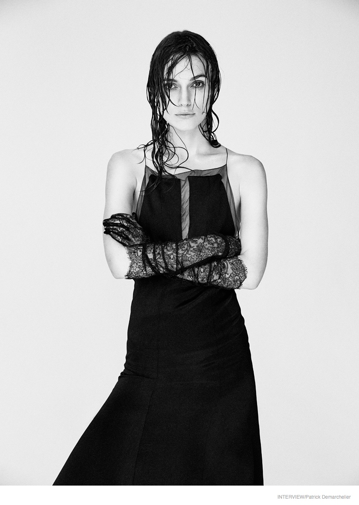 Keira Knightley Goes Topless, Models Messy Hair for Interview Shoot by Patrick Demarchelier