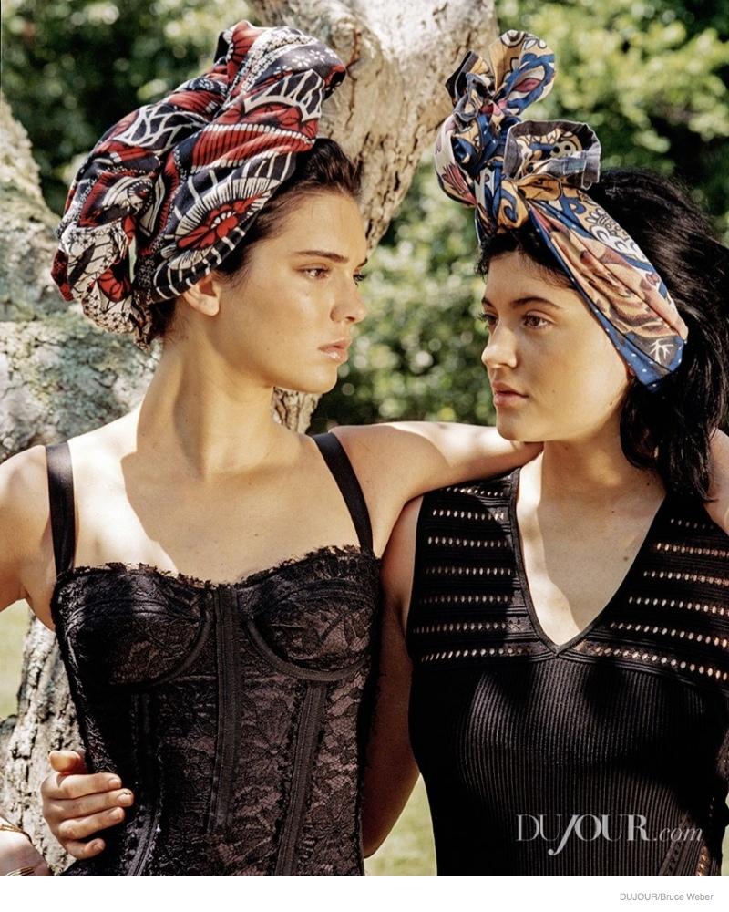 kendall jenner bruce weber dujour06 Kendall & Kylie Jenner Pose for Bruce Weber in Dujour Magazine