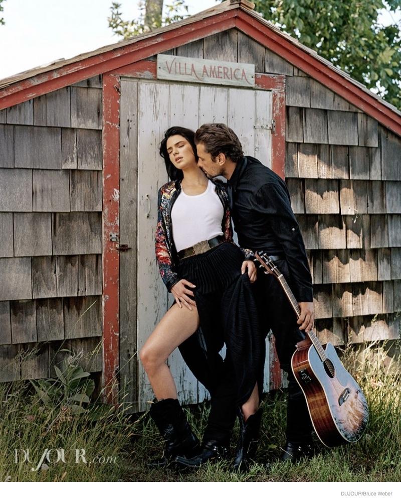 kendall jenner bruce weber dujour07 Kendall & Kylie Jenner Pose for Bruce Weber in Dujour Magazine