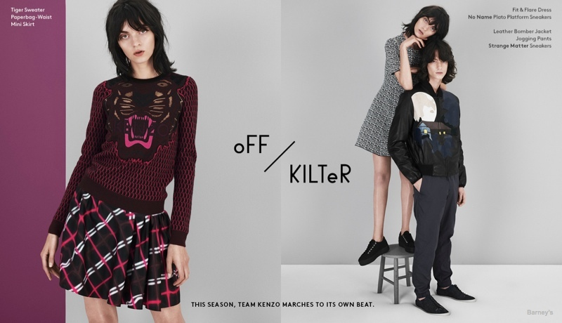 kenzo fall lookbook01 Magda Laguinge Models Kenzos Fall 2014 Collection for Barneys Lookbook