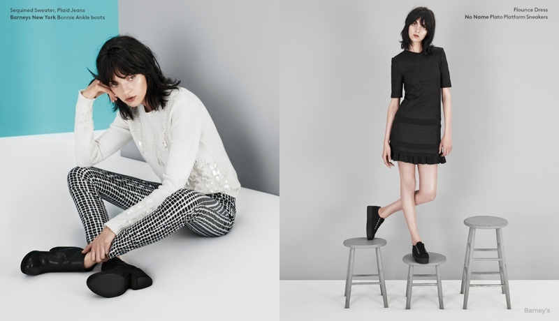 Magda Laguinge Models Kenzo's Fall 2014 Collection for Barney's Lookbook