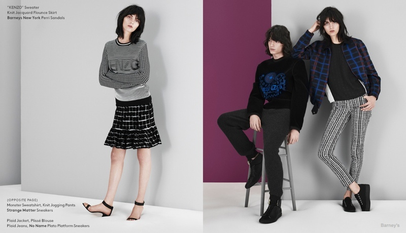 kenzo fall lookbook04 Magda Laguinge Models Kenzos Fall 2014 Collection for Barneys Lookbook