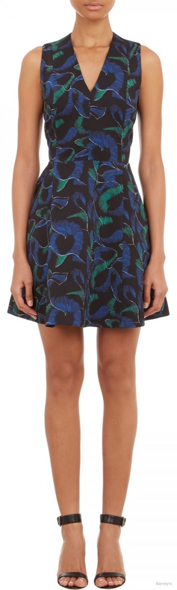 Kenzo Abstract-Print Fit & Flare Dress available at Barneys for $795