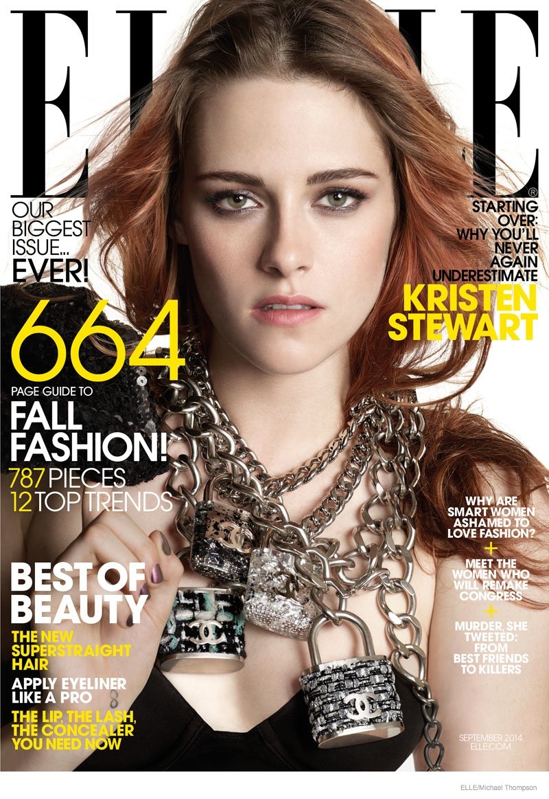kristen stewart elle 2014 photos05 Kristen Stewart Poses at Super Market for ELLEs September Issue