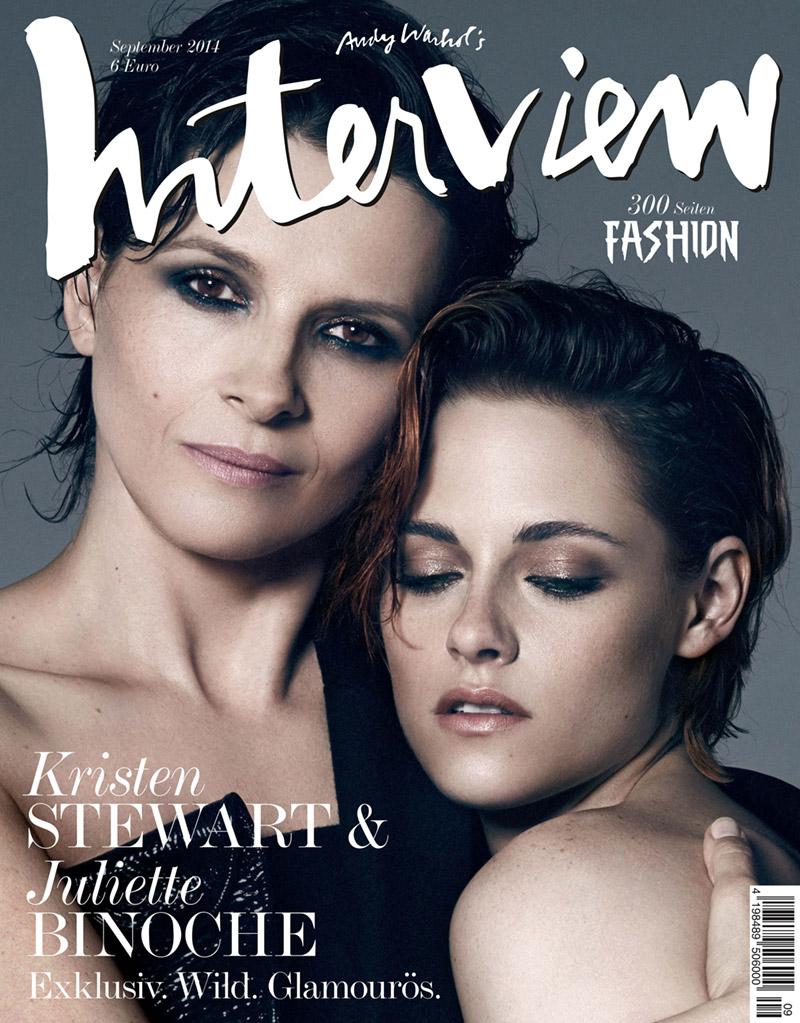 Kristen Stewart & Juliette Binoche Star on Interview Germany September 2014 Cover