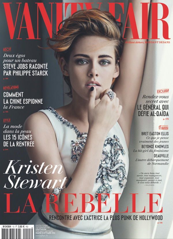 Kristen Stewart Shows Off Short Hair, Chanel on Vanity Fair France September 2014 Cover