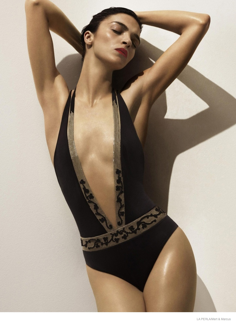 la perla sleepwear swimwear 2014 fall02 More Photos of Liu Wen, Mariacarla Boscono & Daria Strokous Revealed for La Perla