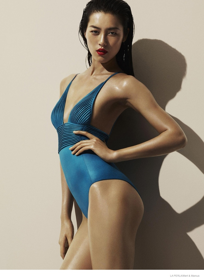 la perla sleepwear swimwear 2014 fall05 More Photos of Liu Wen, Mariacarla Boscono & Daria Strokous Revealed for La Perla