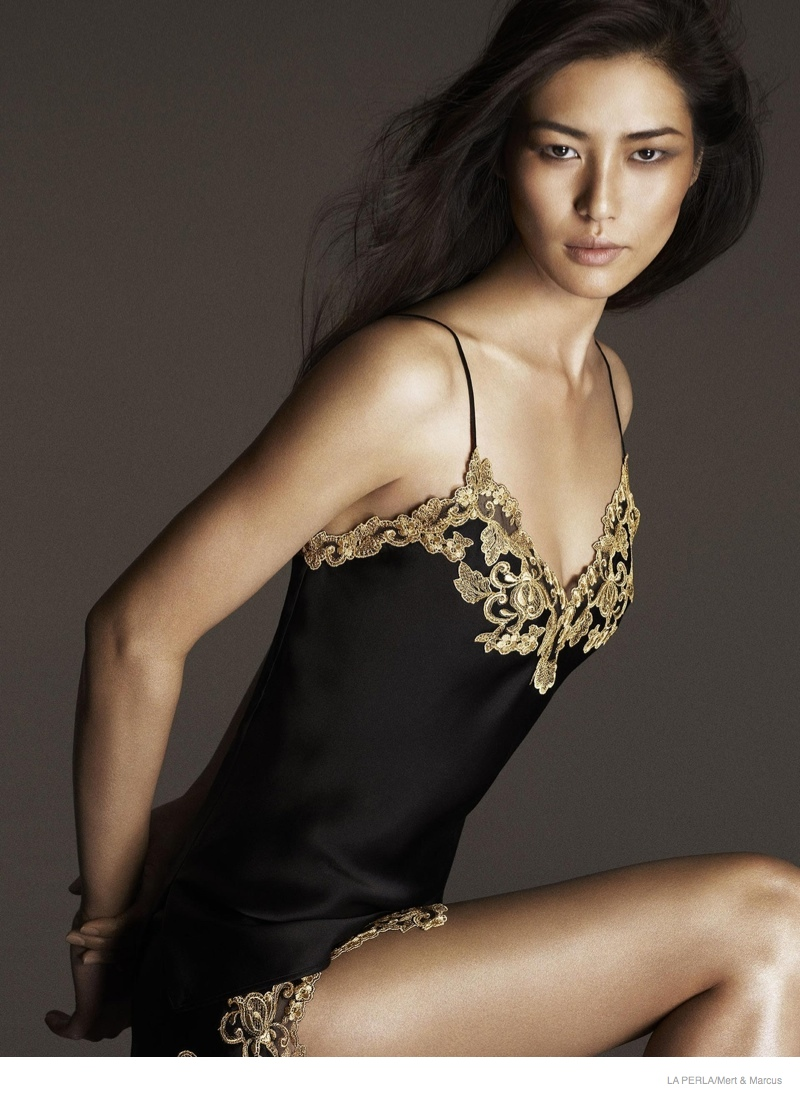 la perla sleepwear swimwear 2014 fall07 More Photos of Liu Wen, Mariacarla Boscono & Daria Strokous Revealed for La Perla